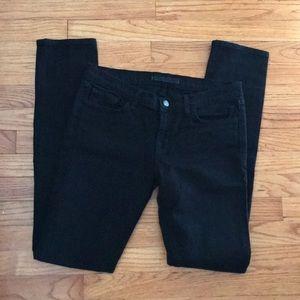 J Brand Pencil Leg Jeans in Jett black size 30